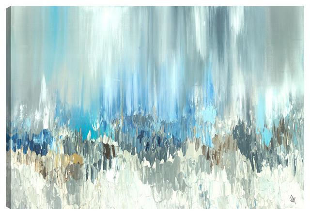 """blue Visuals Beautiful"" Canvas Wall Art By Sanjay Patel, 40""x30"". -1"