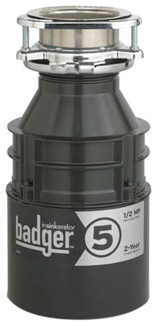 InSinkErator Badger 5 Badger 1/2 HP Garbage Disposal, Without Power Cord