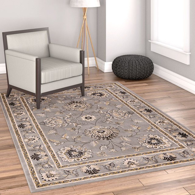 Well Woven Timeless Gray Area Rug, 7&x27;10x10&x27;6.