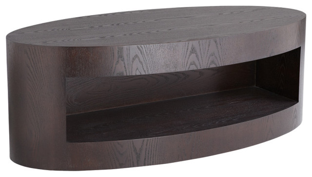 Beacon Coffee Table, Espresso Transitional Coffee Tables