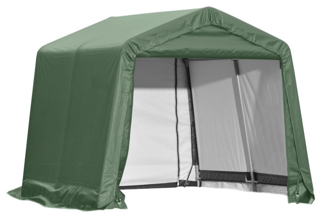 Shelter Logic Outdoor Sheltercoat Garage 10&x27;x8&x27;x10&x27;, Peak Standard, Green.