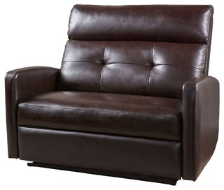 Hana Soft Brown Leather 2 Seat Recliner