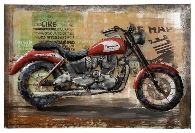 Metal Motorcycle Wall Art.Triumph Motorcycle Wall Art