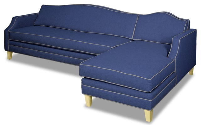 Blackburn 2-Piece Sectional Sofa, Navy/mountain Gray, Chaise On Right.