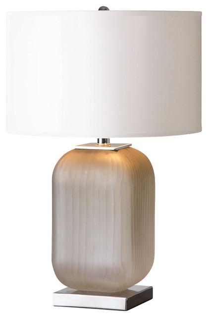 Uttermost Forino Gray Glass Table Lamp