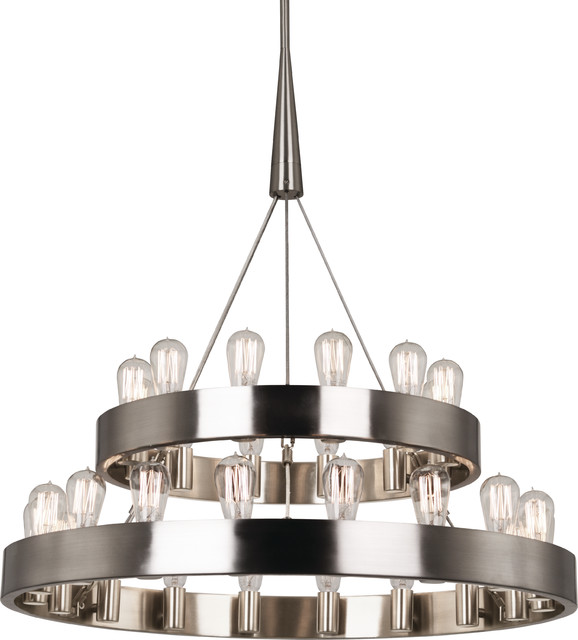 Robert Abbey Rico Espinet Double Candelaria Chandelier Brushed Nickel