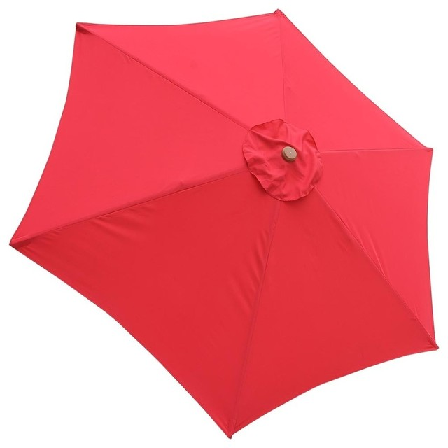 6 Rib Umbrella Replacement Canopy Cover, Red