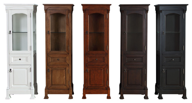 Ordinaire James Martin Brookfield Linen Cabinet, Antique Black