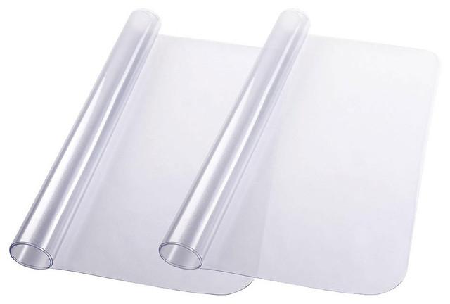 "48""x36"" Rectangle PVC Floor Mat Protector, Set of 2"