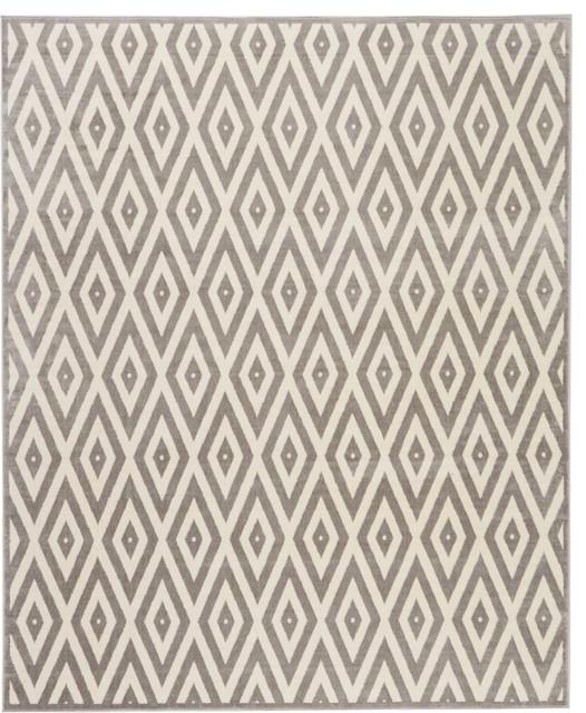 "Nourison Grafix Area Rug, White/gray, 7&x27;10""x9&x27;10"""