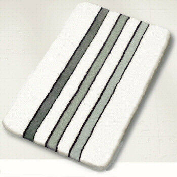 White black bath rugs contemporary bath mats other by vita futura for Black and white bathroom mats