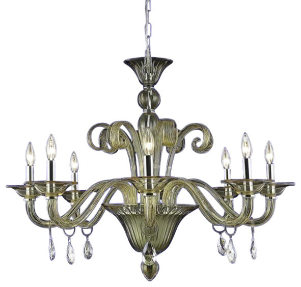 Elegant Dining Room Chandeliers: Elegant Muse Dining Room Light, Yellow Finish With Royal
