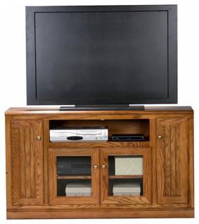 """Eagle Furniture Heritage 55"""" Tall Entertainment Console, Medium Oak"""