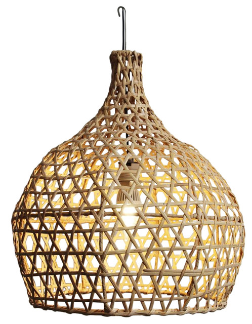 Raw Wicker Pumpkin Lantern Small.