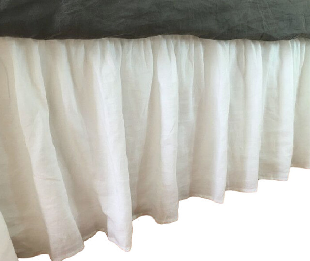 White Full Bed Skirt 46