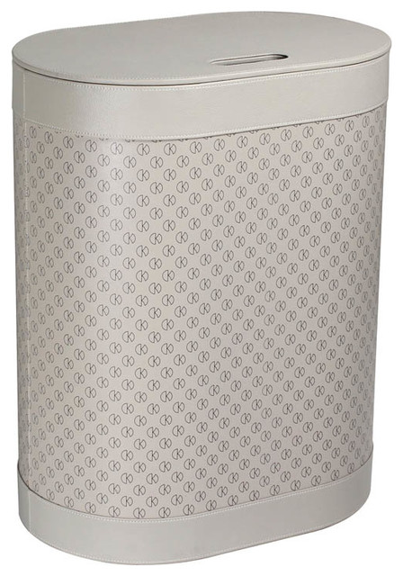 Ws Bath Collections Icon 2465 Laundry Basket, Light Gray.