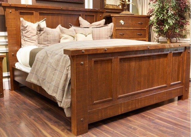 sonoma ridge reclaimed solid wood king bed rustic panel beds - Wood King Bed Frame