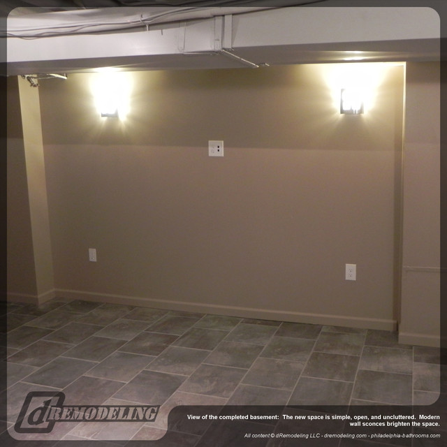 Wall Sconces For Basement : Modern wall sconces - Contemporary - Basement - Philadelphia - by dRemodeling