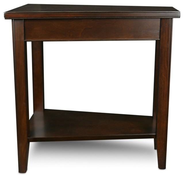 Leick Home Leick Furniture Laurent Chocolate Cherry Recliner Wedge Table Side Tables And End