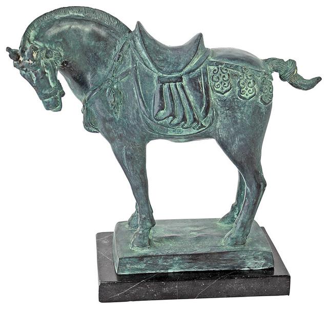 Museum Replica Bronze Sculpture Tang Dynasty Horse Bronze Statue ...