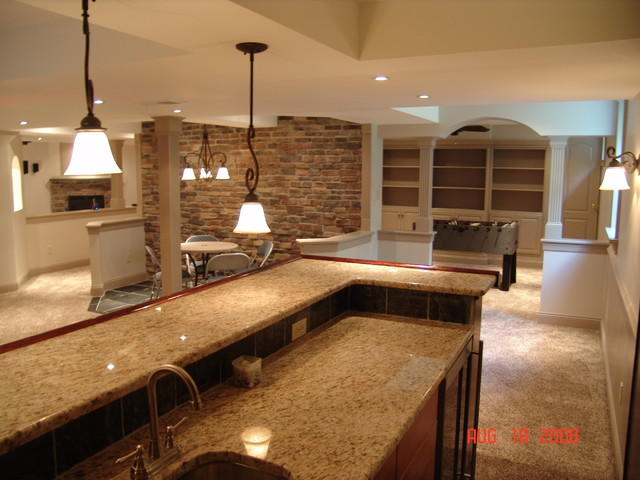 Basement Remodel In West Chester PA Traditional Basement Philadelphia