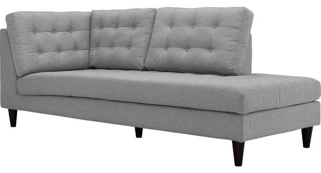 Empress Upholstered Fabric Bumper, Light Gray.