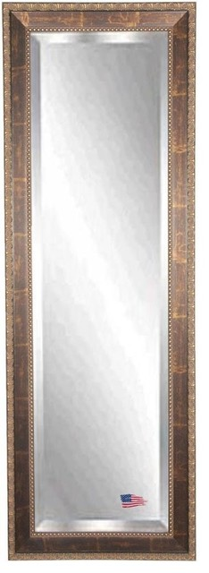 "American Made Roman Copper Bronze 26""x64"" Full Body Beveled Mirror. -1"