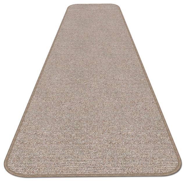Skid-Resistant Carpet Runner Pebble Beige, 36x12&x27;.