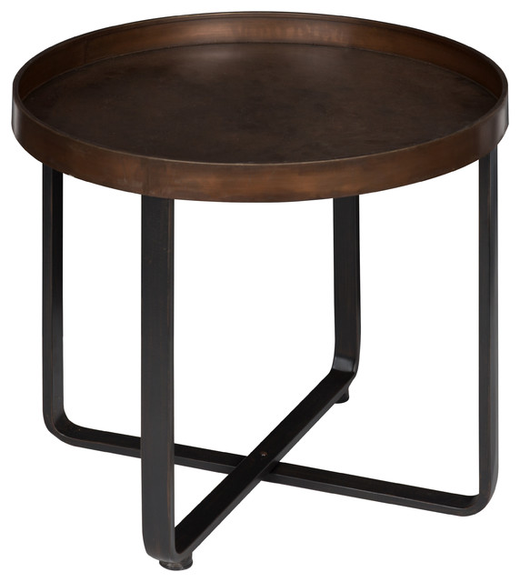Kate And Laurel Zabel Round Metal End, Round Metal End Tables
