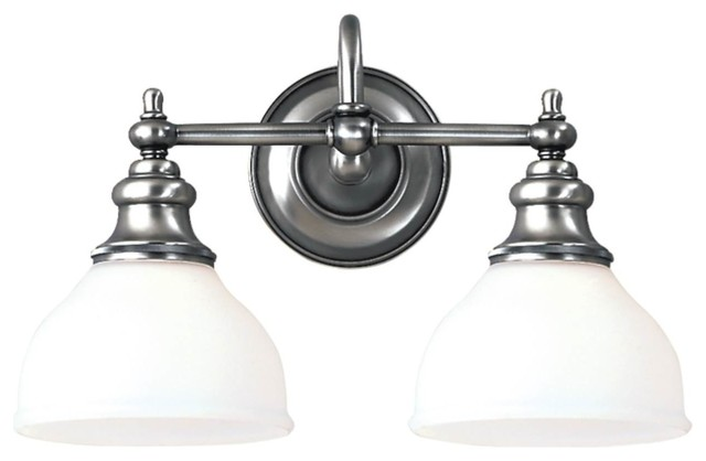 Hampton Bay 2 Light Chrome Bath Light 05659: Hudson Valley Sutton 2-Light Bath Bracket