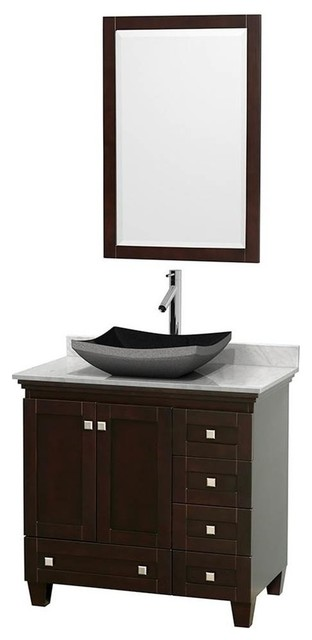 Wyndham Collection 36 Single Bathroom Vanity Set With Altair Black Gran