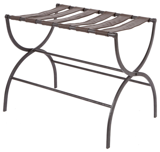 Julian Metal Folding Luggage Rack With Contour Legs