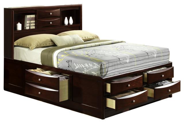 Frances Storage Bed, Queen.