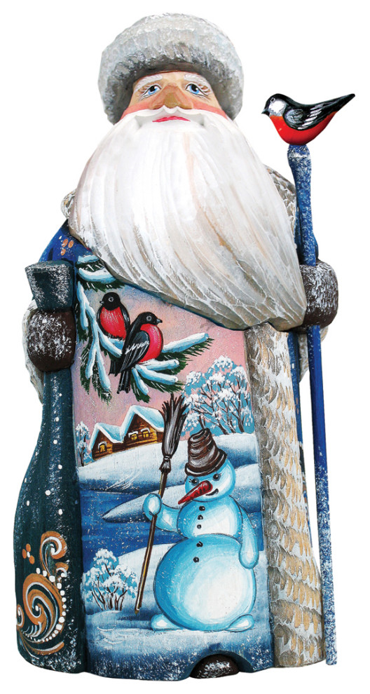 Snowman Play Handcarved Santa Traditional Holiday Accents And Figurines By G Debrekht