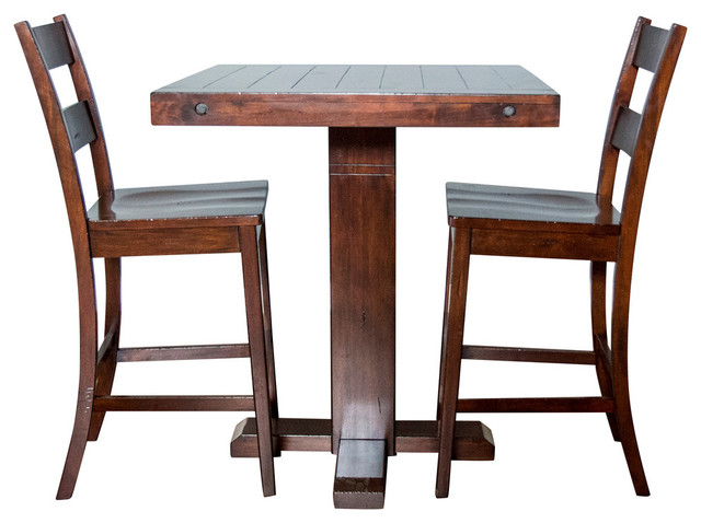 Sunny Designs Vineyard Pub Table, Rustic Mahogany   Southwestern   Indoor  Pub And Bistro Tables   By GwG Outlet