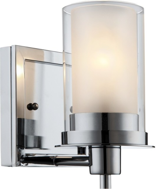 Avalon Light Wall Fixture Chrome Contemporary Bathroom Vanity Lighting By Hardware House