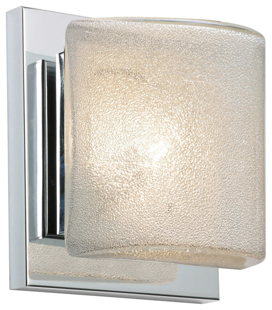 Paolo 1 Light Wall Sconce in Chrome