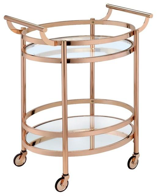 Acme Furniture Acme Lakelyn Serving Cart Bar Carts Houzz