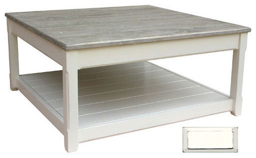 Cottage Square Coffee Table White Farmhouse Coffee Tables
