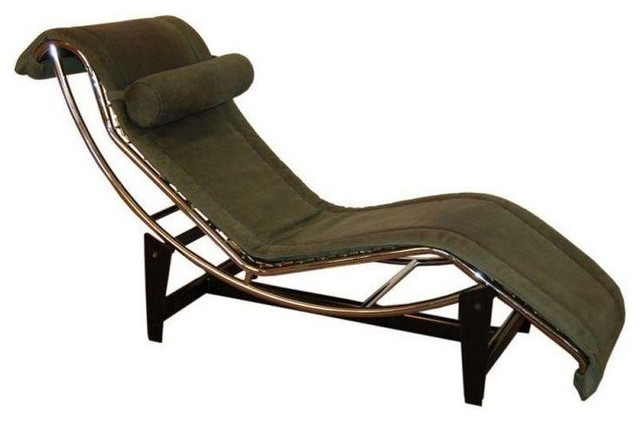 Le Corbusier Lc4 Green Leather Chaise Longue Modern