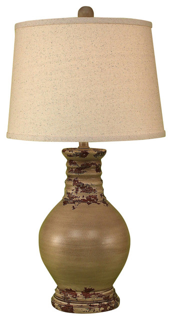 Round Pot with Ribbed Neck Farmhouse Table Lamps by HedgeApple