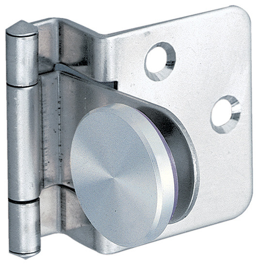 Sugatsune GH348 Overlay Glass Door Hinge - Industrial - Hinges - by Woodworker's Hardware
