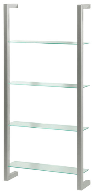 Cubic Dvd Rack With 4 Shelves, Nickel.