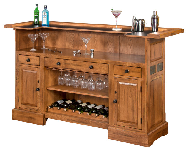 Sedona Bar With Slate Accents - Craftsman - Wine And Bar ...