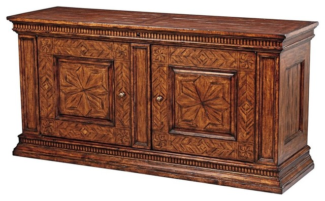 Scarborough House Plasma Stand, Heavily Distressed - Traditional - Media Cabinets - by EuroLuxHome