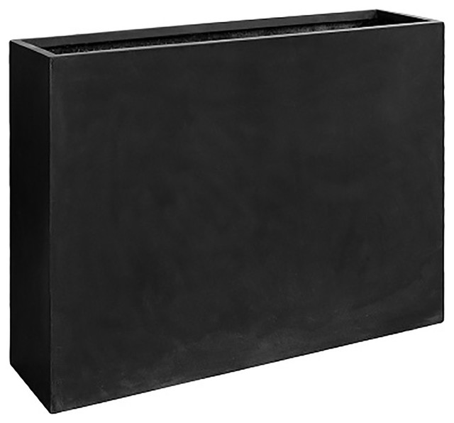 Basic Luxurious Black Rectangular Planter Box Large Black