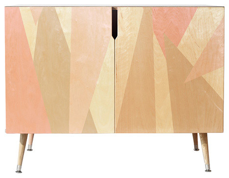 Credenza Contemporary : Wood and steel credenza contemporary custom credenzas