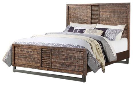 Acme Andria Queen Bed, Reclaimed Oak.