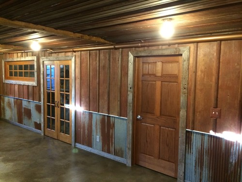Tin wainscoting barn tin wainscoting and corrugated tin for Metal wainscoting ideas