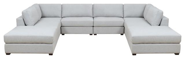 Admirable Reed 8 Piece Modular Reconfigurable Deep Seating Sofa Sectional Customarchery Wood Chair Design Ideas Customarcherynet